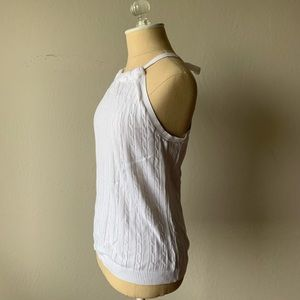 White Cable Knit Tank Top